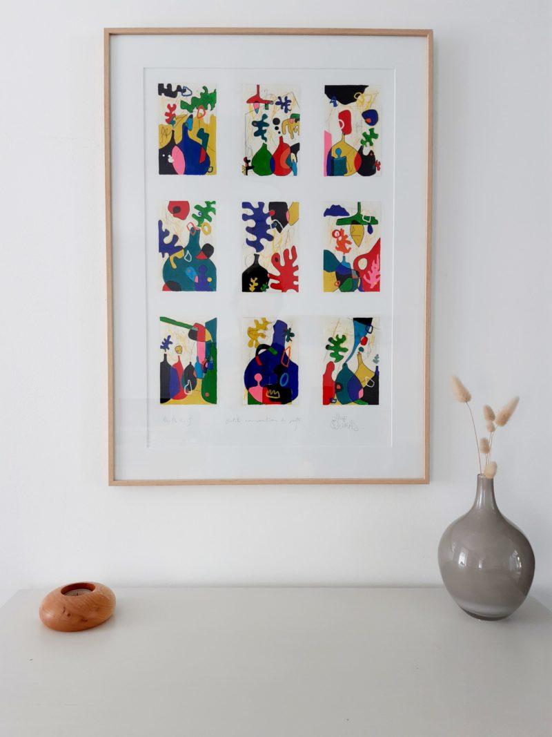 Petite composition de pots (70x50cm) – Hugo Duras