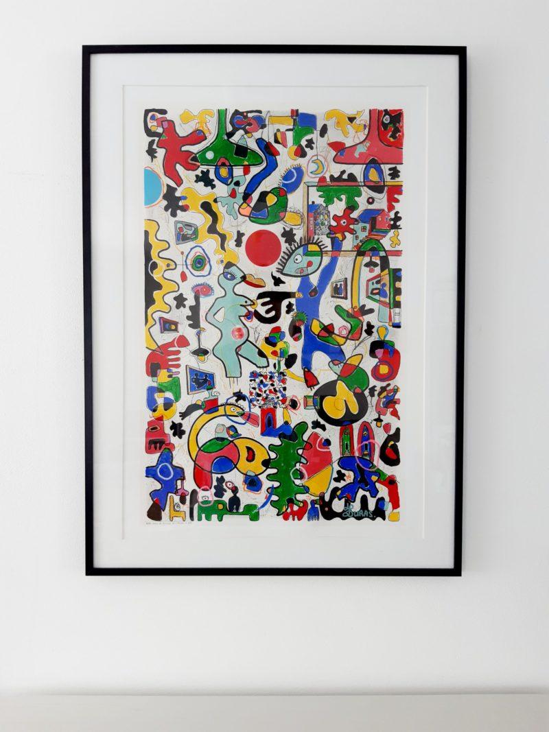 Petite scène de danse au musée d'art (70x50cm) – Hugo Duras