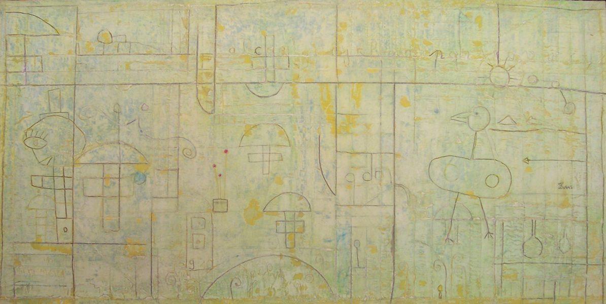 Hugo Duras -Cp, la Récréation (100x50cm)