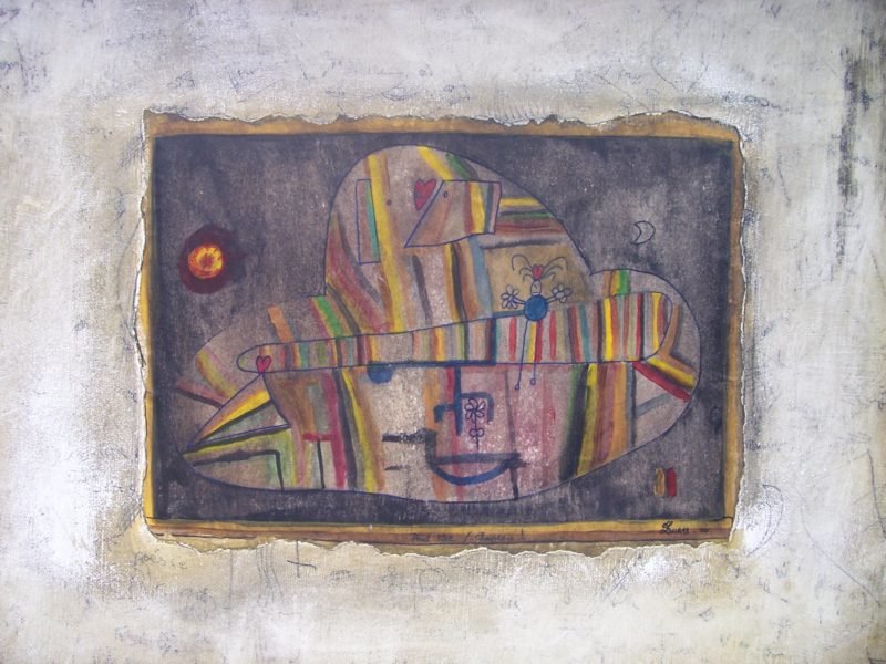 Hugo Duras -Paul Klee Chapeau (40x30cm)