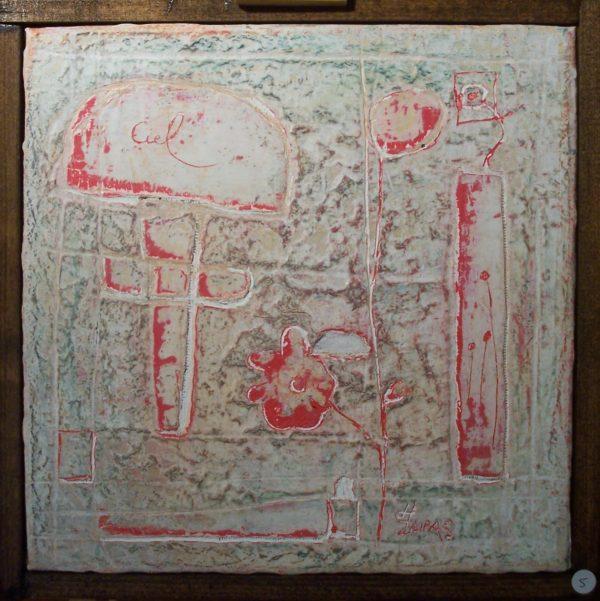 Hugo Duras – Petite marelle dans le jardin (20x20cm)