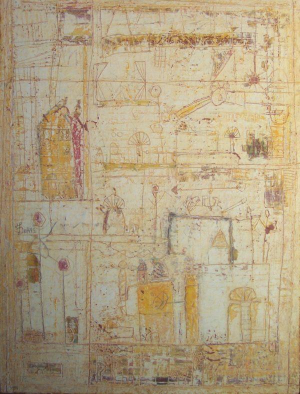 Hugo Duras -Scène de Chasse dans le Village (70x50cm)