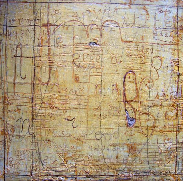 Hugo Duras -a,b,c,p L'alphabet dans le jardin (30x30cm)