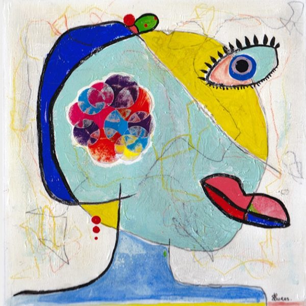 Portrait de femme (40x40cm)