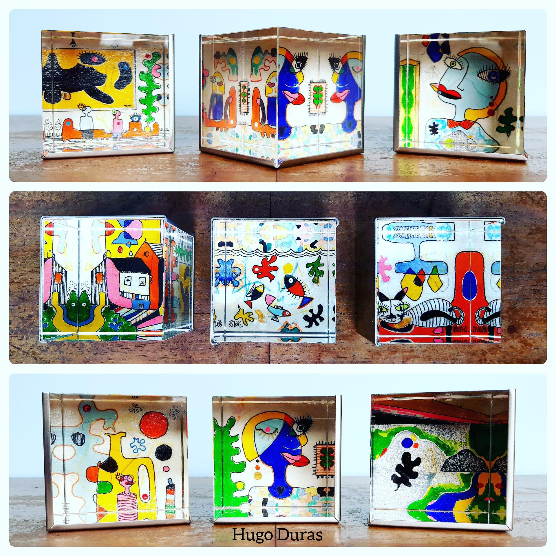 Cube de verre 6x6x6