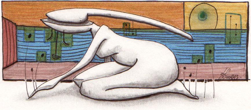 Hugo Duras – La pensée des corps – Fenêtre sur rue (21x15cm)