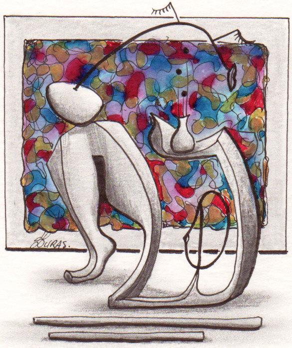 Hugo Duras – La pensée des corps – Sculture côté jardin (21x15cm)