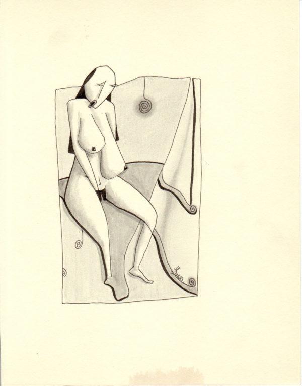 La pensée des corps – En attendant la nuit – Hugo Duras (24x18cm)