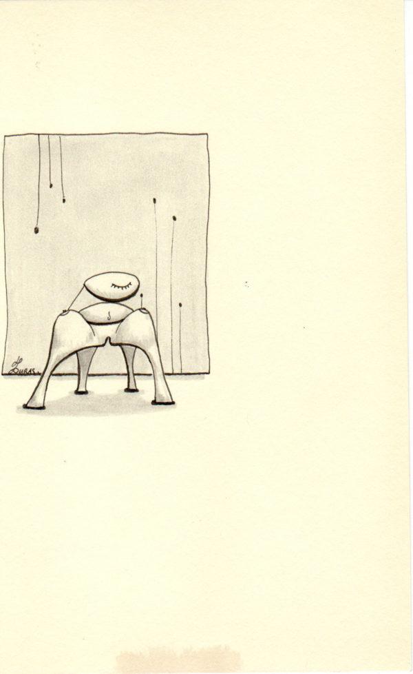 Hugo Duras – La pensée des corps – La chaise efféminée(21x15cm)