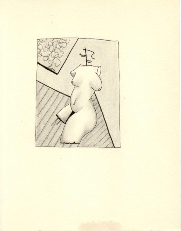 La pensée des corps – Buste – Hugo Duras (21x15cm)