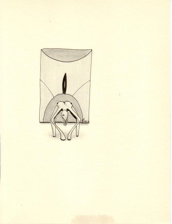 La pensée des corps – Le miroir – Hugo Duras (21x15cm)