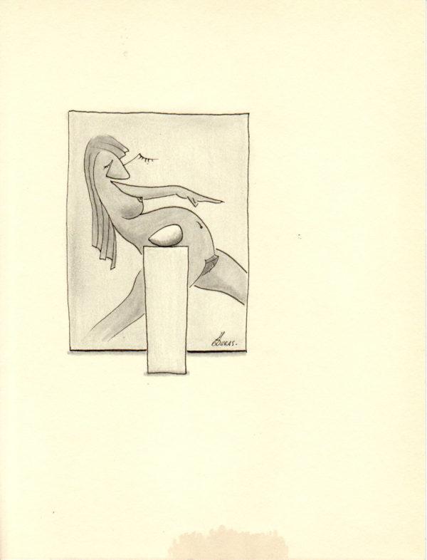 La pensée des corps – Foetus – Hugo Duras (21x15cm)