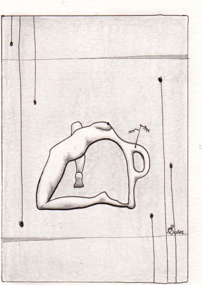 Hugo Duras – La pensée des corps – Contorsion – (21x15cm)