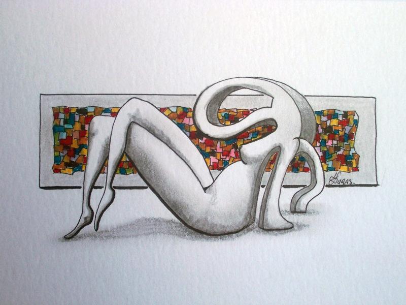 La pensée des corps – Fenêtre sur jardin (21x15cm) – Hugo Duras
