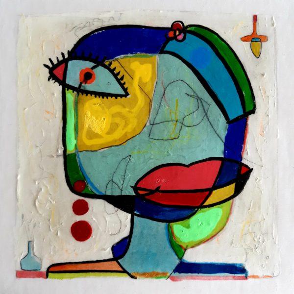 Portrait de femme 30×30